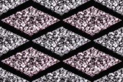 Άνευ ραφής σχέδια των διαμαντιών στα άσπρα και ρόδινα χρώματα στοκ εικόνα