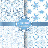 Άνευ ραφής σχέδια Χριστουγέννων συλλογής Στοκ φωτογραφία με δικαίωμα ελεύθερης χρήσης
