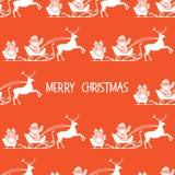 Άνευ ραφής σχέδιο Άγιος Βασίλης, δώρα Χριστουγέννων 2019 διανυσματική απεικόνιση