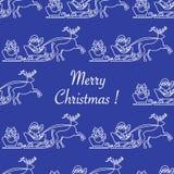 Άνευ ραφής σχέδιο Άγιος Βασίλης, δώρα Χριστουγέννων 2019 ελεύθερη απεικόνιση δικαιώματος