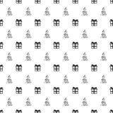 Άνευ ραφής σχέδιο έτους Χριστουγέννων νέο με το χριστουγεννιάτικο δέντρο δώρων background colors holiday red yellow Ασημένιο άσπρ Στοκ Εικόνες