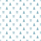 Άνευ ραφής σχέδιο έτους Χριστουγέννων νέο με το χριστουγεννιάτικο δέντρο δώρων background colors holiday red yellow Καθιερώνον τη Στοκ φωτογραφία με δικαίωμα ελεύθερης χρήσης
