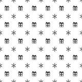 Άνευ ραφής σχέδιο έτους Χριστουγέννων νέο με snowflakes το δώρο παρόν background colors holiday red yellow Χειμερινή καθιερώνουσα Στοκ Εικόνες