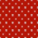 Άνευ ραφής σχέδιο έτους Χριστουγέννων νέο με snowflakes το δώρο παρόν background colors holiday red yellow Χειμερινή καθιερώνουσα Στοκ φωτογραφία με δικαίωμα ελεύθερης χρήσης