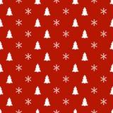 Άνευ ραφής σχέδιο έτους Χριστουγέννων νέο με snowflakes το χριστουγεννιάτικο δέντρο background colors holiday red yellow Χειμεριν Στοκ φωτογραφία με δικαίωμα ελεύθερης χρήσης