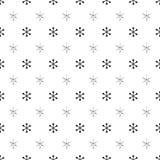 Άνευ ραφής σχέδιο έτους Χριστουγέννων νέο με snowflakes background colors holiday red yellow ασημένιο snowflakes Χριστουγέννων λε Στοκ φωτογραφία με δικαίωμα ελεύθερης χρήσης