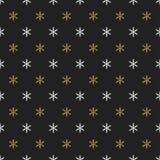 Άνευ ραφής σχέδιο έτους Χριστουγέννων νέο με snowflakes background colors holiday red yellow Χρυσά Snowflakes Χειμερινή διακόσμησ Στοκ Φωτογραφία