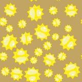 Άνευ ραφής σχέδιο 628 ήλιων κινούμενων σχεδίων Στοκ Εικόνες