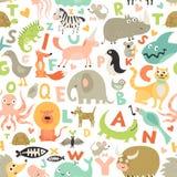 Άνευ ραφής σχέδιο αλφάβητου παιδιών Στοκ εικόνα με δικαίωμα ελεύθερης χρήσης