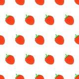 Άνευ ραφής σχέδιο από τη φράουλα στο άσπρο υπόβαθρο του ι Στοκ Εικόνες