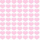 Άνευ ραφής σχέδιο από τις ρόδινες καρδιές σε μια άσπρη διακοσμητική διακόσμηση υποβάθρου των καρδιών για το σχέδιο των ευχετήριων απεικόνιση αποθεμάτων