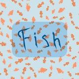 Άνευ ραφής σχέδιο από τους διαφορετικούς τύπους ψαριών διανυσματική απεικόνιση