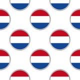 Άνευ ραφής σχέδιο από τους κύκλους με τη σημαία Netherland Στοκ εικόνες με δικαίωμα ελεύθερης χρήσης