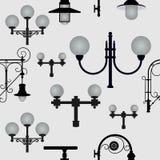 Άνευ ραφής σχέδιο από τους λαμπτήρες οδών Στοκ φωτογραφία με δικαίωμα ελεύθερης χρήσης