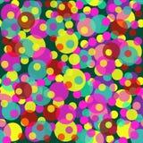 Άνευ ραφής σχέδιο από τους πολύχρωμους διαφανείς κύκλους ελεύθερη απεικόνιση δικαιώματος
