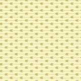 Άνευ ραφής σχέδιο βελών με τα ελαφριά χρυσά χρώματα Σύγχρονο καθιερώνον τη μόδα ύφος τέχνης μορφής ελεύθερη απεικόνιση δικαιώματος