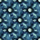 Άνευ ραφής σχέδιο δεσμός-χρωστικών ουσιών του χρώματος λουλακιού στο άσπρο μετάξι διανυσματική απεικόνιση