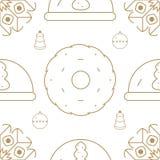 Άνευ ραφής σχέδιο διακοπών Χριστουγέννων και χειμώνα αφηρημένο ανασκόπησης Χριστουγέννων σκοτεινό διακοσμήσεων σχεδίου λευκό αστε Στοκ Εικόνα