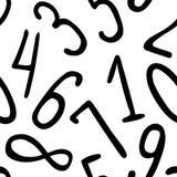 Άνευ ραφής σχέδιο - διανυσματικά ψηφία διανυσματική απεικόνιση