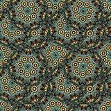 Άνευ ραφής σχέδιο επανάληψης των χρωματισμένων mandalas Στοκ εικόνα με δικαίωμα ελεύθερης χρήσης