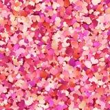 Άνευ ραφής σχέδιο ημέρας βαλεντίνων με το κόκκινο, ροζ, μικρές καρδιές κρητιδογραφιών 10 eps ελεύθερη απεικόνιση δικαιώματος