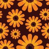 Άνευ ραφής σχέδιο θερινού πορτοκαλί calendula διανυσματική απεικόνιση