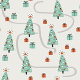 Άνευ ραφής σχέδιο καλής χρονιάς Απλή διανυσματική απεικόνιση Στοκ εικόνα με δικαίωμα ελεύθερης χρήσης