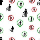 Άνευ ραφής σχέδιο κανένα λογότυπο συμβόλων σημαδιών ρύπανσης ελεύθερη απεικόνιση δικαιώματος