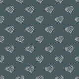 Άνευ ραφής σχέδιο καρδιών ημέρας βαλεντίνων doodles Ρομαντική συλλογή αυτοκόλλητων ετικεττών Συρμένο χέρι διάνυσμα επίδρασης απεικόνιση αποθεμάτων