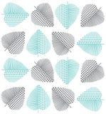 Άνευ ραφής σχέδιο καρδιών με μορφή ενός φύλλου Στοκ φωτογραφία με δικαίωμα ελεύθερης χρήσης