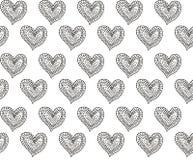 Άνευ ραφής σχέδιο καρδιών με τα σημεία Στοκ εικόνα με δικαίωμα ελεύθερης χρήσης