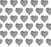 Άνευ ραφής σχέδιο καρδιών με τα τριαντάφυλλα και τα σημεία Στοκ εικόνα με δικαίωμα ελεύθερης χρήσης