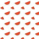 Άνευ ραφής σχέδιο καρπουζιών Η τέχνη του γλυκού εύγευστου θέματος φρούτων φαίνεται yummy Στοκ Εικόνα
