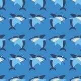 Άνευ ραφής σχέδιο καρχαριών Στοκ φωτογραφία με δικαίωμα ελεύθερης χρήσης