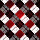 Άνευ ραφής σχέδιο καρό ταρτάν στα λωρίδες κόκκινου, γραπτά Ελεγμένη twill σύσταση υφάσματος Διανυσματικό swatch για απεικόνιση αποθεμάτων