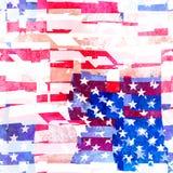 Άνευ ραφής σχέδιο κολάζ αμερικανικών σημαιών διανυσματική απεικόνιση