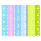 Άνευ ραφής σχέδιο κυμάτων σε τρία διαφορετικά χρώματα διανυσματική απεικόνιση