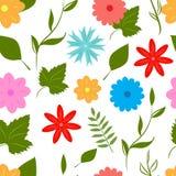 Άνευ ραφής σχέδιο λουλουδιών θερινής διασκέδασης διανυσματική απεικόνιση