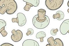 Άνευ ραφής σχέδιο μανιταριών Ατελείωτη σύσταση διανυσματική απεικόνιση