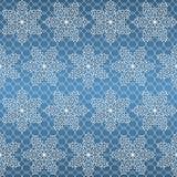 Άνευ ραφής σχέδιο με άσπρα snowflakes Στοκ Φωτογραφία