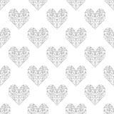 Άνευ ραφής σχέδιο με μια εικόνα της καρδιάς Ένα σύμβολο της αγάπης διανυσματική απεικόνιση