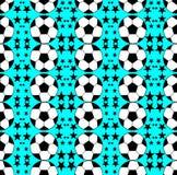 Άνευ ραφής σχέδιο με μια σφαίρα ποδοσφαίρου φωτεινά χρώματα Στοκ Εικόνες