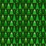 Άνευ ραφής σχέδιο με πράσινα fir-trees Στοκ εικόνα με δικαίωμα ελεύθερης χρήσης