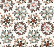 Άνευ ραφής σχέδιο με συρμένα χέρι snowflakes Στοκ εικόνες με δικαίωμα ελεύθερης χρήσης