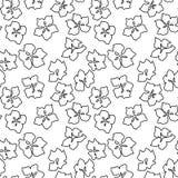 Άνευ ραφής σχέδιο με τα ανθίζοντας λουλούδια κερασιών της Apple στο ρόδινο colo Στοκ Εικόνες