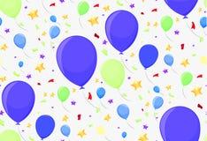 Άνευ ραφής σχέδιο με τα εορταστικά μπαλόνια Στοκ Εικόνες