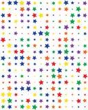 Άνευ ραφής σχέδιο με τα ζωηρόχρωμα αστέρια στοκ φωτογραφία