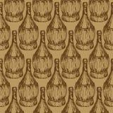 Άνευ ραφής σχέδιο με τα ντεμοντέ μπουκάλια κρασιού Στοκ φωτογραφία με δικαίωμα ελεύθερης χρήσης