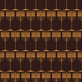 Άνευ ραφής σχέδιο με τα παραδοσιακά σύμβολα Hanukkah διανυσματική απεικόνιση