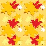 Άνευ ραφής σχέδιο με τα πορτοκαλιά φύλλα πτώσης φθινοπώρου - διάνυσμα απεικόνιση αποθεμάτων